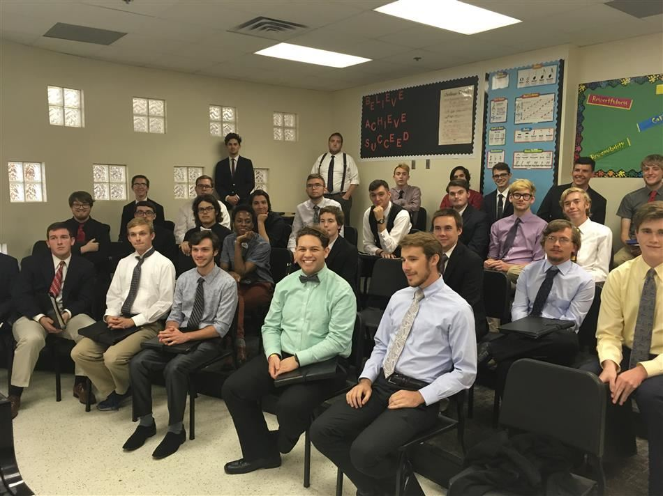 The University of Oklahoma's Glee Club visits BOMLA!
